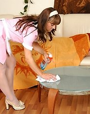 Cute mature French maid wakes up a well-hung guy craving for mighty dicking