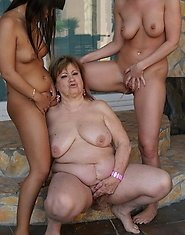 Two hot babes take on a horny mature lesbian
