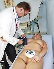Old and chubby mature Radka visits kinky gyno clinic