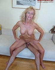 This horny mature slut really loves piss, cock and cum