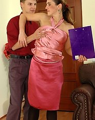 Lascivious mature chick tricking well-hung chap into breathtaking screwing