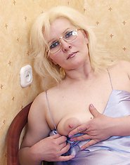 Elena is a respected college teacher from Saint Petersburg. She likes to play with a dildo and fuck younger men at leisure... Yes, this sounds really