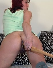 baseball bat up her hole