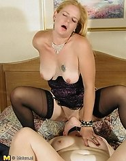 Mature lesbian slave gets some action